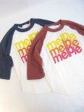 "Melple(メープル)ベースボール7分袖  ""Melple""  【Kid's】"
