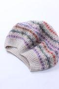 【80%OFF】スコットランド製 マルチカラーベレー帽