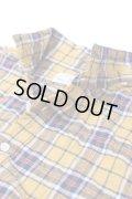 【SALE30%OFF】gardens of paradise GARDENER ヘリンボーンシャーリングチェックシャツ Mustard 【Men's】