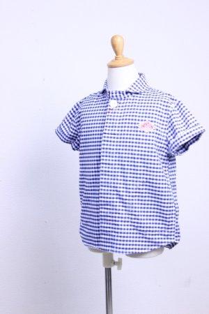 画像1: DANTON KID'S(ダントンキッズ)半袖ショールカラーシャツ OXFORD GINGHAM 2017'S/S【Kid's】