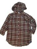 Melple(メープル)3/4 Sleeve Flannel Hood Shirts  【Men's】