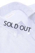 SOUTIENCOL(スティアンコル) Sanfrancisco 2014 70/-Pima コットン ロンドンストライプ B/D Shirts Royal【Men's】