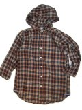Melple(メープル)3/4 Sleeve Flannel Hood Shirts  【Men's】